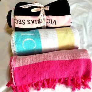NWT Victoria's Secret blankets, 3 different ones